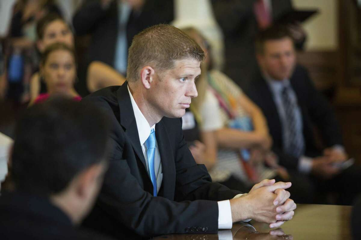 Rep. Matt Krause sits in during a Land and Resource Management committee meet at the Texas State Capitol to try and revive annexation legislation after it stalled on the house floor on Monday during special session of the 85th Texas Legislature on August 9, 2017 in Austin, Texas.