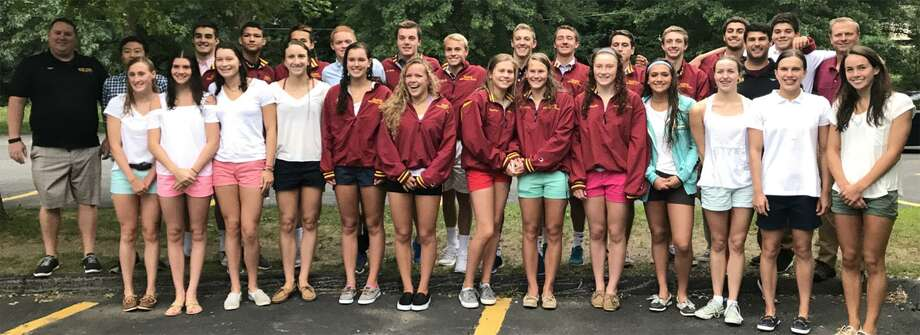 The Wilton Y Wahoos after last week's YMCA national swim championship meet in North Carolina. The boys placed third; the combined team placed sixth overall. Photo: Contributed Photo