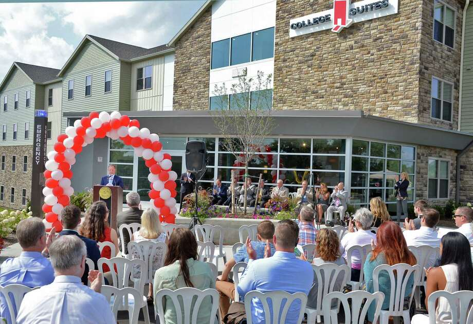 The College Suites at Hudson Valley, TroyOs newest student housing community, hosts their official ribbon cutting ceremony Wednesday August 9, 2017 in Troy, NY.  (John Carl D'Annibale / Times Union) Photo: John Carl D'Annibale / 20041230A