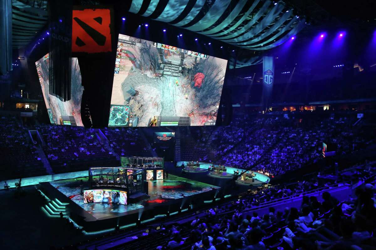 Fans fill KeyArena on day three of The International 2017, a tournament for the video game Dota 2, where teams from all over the world compete for $23 million in prize money, Wednesday, Aug. 9, 2017.