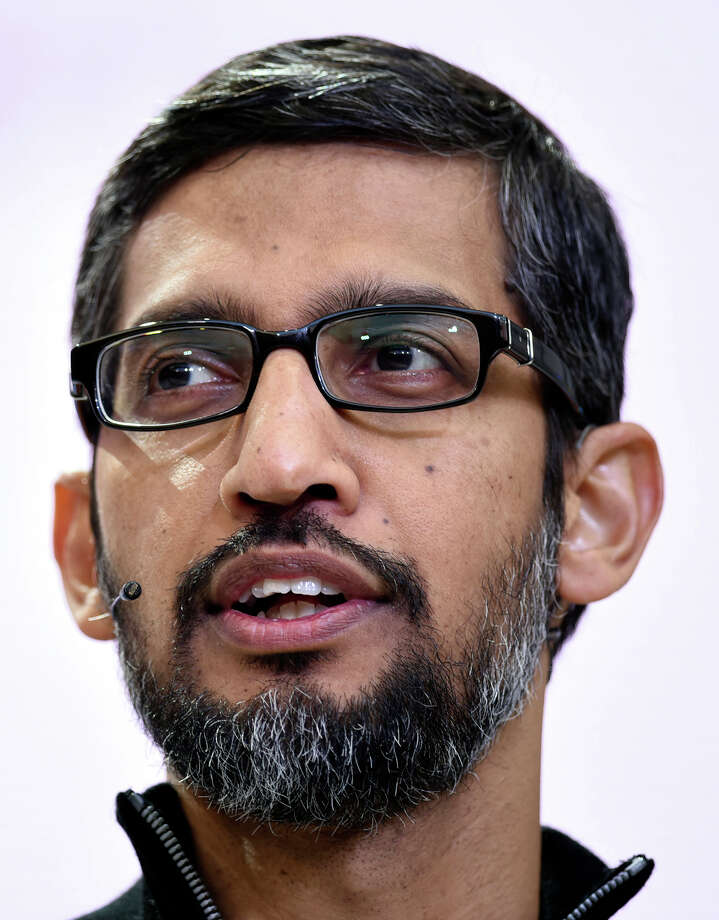 Google CEO Sundar Pichai speaks during the Google I/O Annual Developers Conference in Mountain View, California, on May 17, 2017. MUST CREDIT: Bloomberg photo by Michael Short. Photo: Michael Short / © 2017 Bloomberg Finance LP