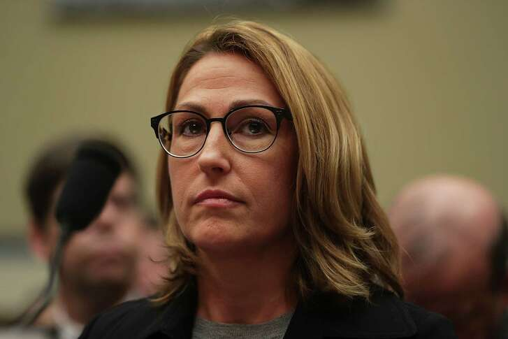 "WASHINGTON, DC - SEPTEMBER 21:  Mylan Inc. CEO Heather Bresch testifies during a hearing before the House Oversight and Government Reform Committee September 21, 2016 on Capitol Hill in Washington, DC. The committee held a hearing on ""Reviewing the Rising Price of EpiPens.""  (Photo by Alex Wong/Getty Images)"