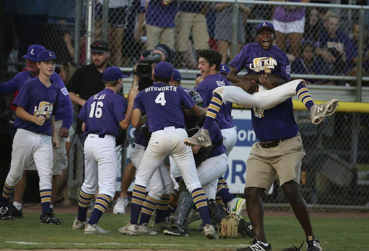 Lufkin celebrates after advancing to the Little League World Series. The Texas East representatives went 4-0 at the regional.