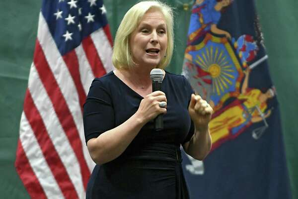 U.S. Senator Kirsten Gillibrand hosts a Town Hall meeting at Hudson Valley Community College on Wednesday, Aug. 9, 2017 in Troy, N.Y. (Lori Van Buren / Times Union)