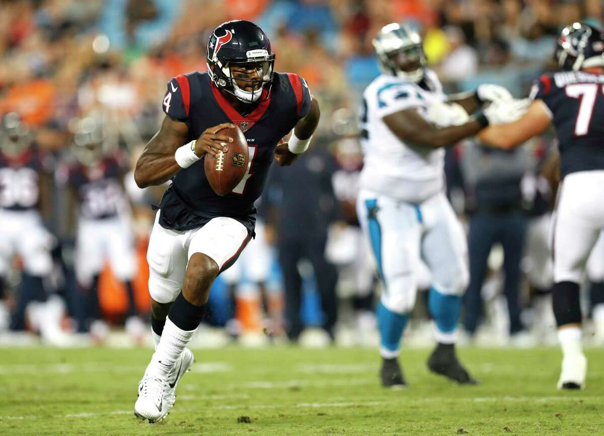 FIVE UP 2. Deshaun Watson The rookie quarterback displayed uncommon poise and improvisational skills during his NFL debut. Watson was sharp and careful with the football, avoiding turnovers. He did misfire on a few throws, but it was an extremely encouraging start for the first-round draft pick.