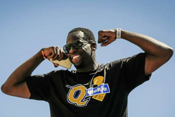 "6. Warriors forward Draymond Green will always up the intensity of any rivalry. And he certainly did that when he wore a ""Quickie"" tee at the Warriors' title winning parade. Cavs coach Dan Gilbert owns Quicken Loans. ""Well, the Q — that's what those guys' arena's called,"" Green told CSN Bay Area's Ros Gold-Onwude. ""And we got 'em outta here quick. With the trophy. Quickie."""