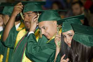 Students from Martin High, Nixon High, and Cigarroa High Schools who completed their high school requirements over the summer participated in graduation ceremonies at the Vidal M. Trevino School of Communications and Fine Arts Auditorium on Wednesday, August 9.