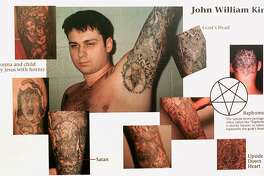 This display was admitted as evidence Wednesday, Feb. 17, 1999 during the trial of John William King in Jasper, Texas. King is one of three white men charged with capital murder in the dragging death of James Byrd Jr. (AP Photo/Jasper County District Attorney, Pool)