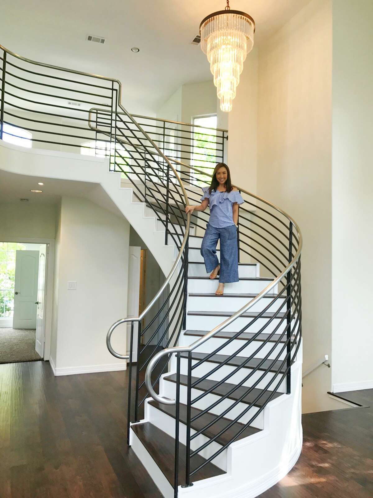 """Lily Jang inside one of her million-dollar listings featured on KPRC-2's """"Home Showcase."""""""
