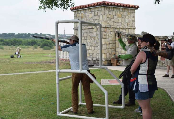 Stephen Ethridge, a B Class competitor, shoots his way to first place during a shoot-off at an introductory MatchPlay Sporting Clays event held at the San Antonio Gun Club that demonstrated how the game allows participants of all skill levels to have fun and enjoy some friendly competition.