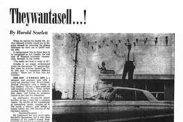 Houston Post inside page - June 27, 1965 - Spotlight section, page 5. Theywantasell ...! (TV car salesmen)