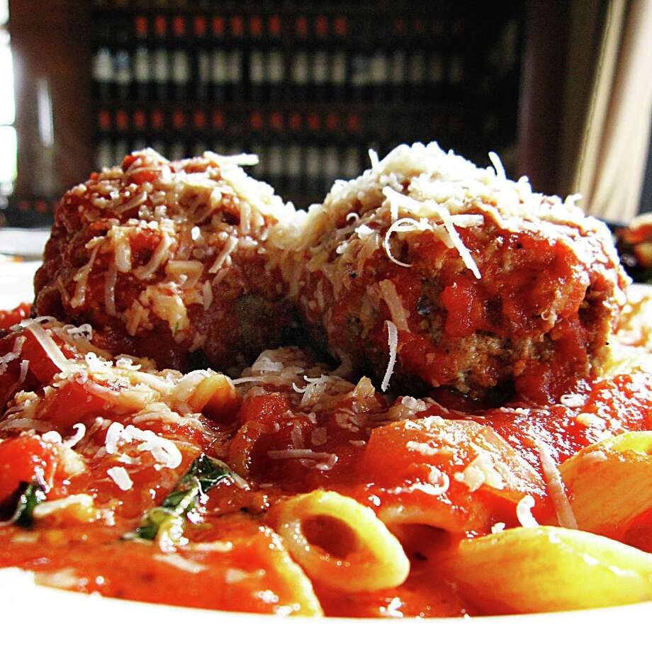 Penne pasta with meatballs and marinara from Luce Ristorante e Enoteca. Photo: Mike Sutter /San Antonio Express-News