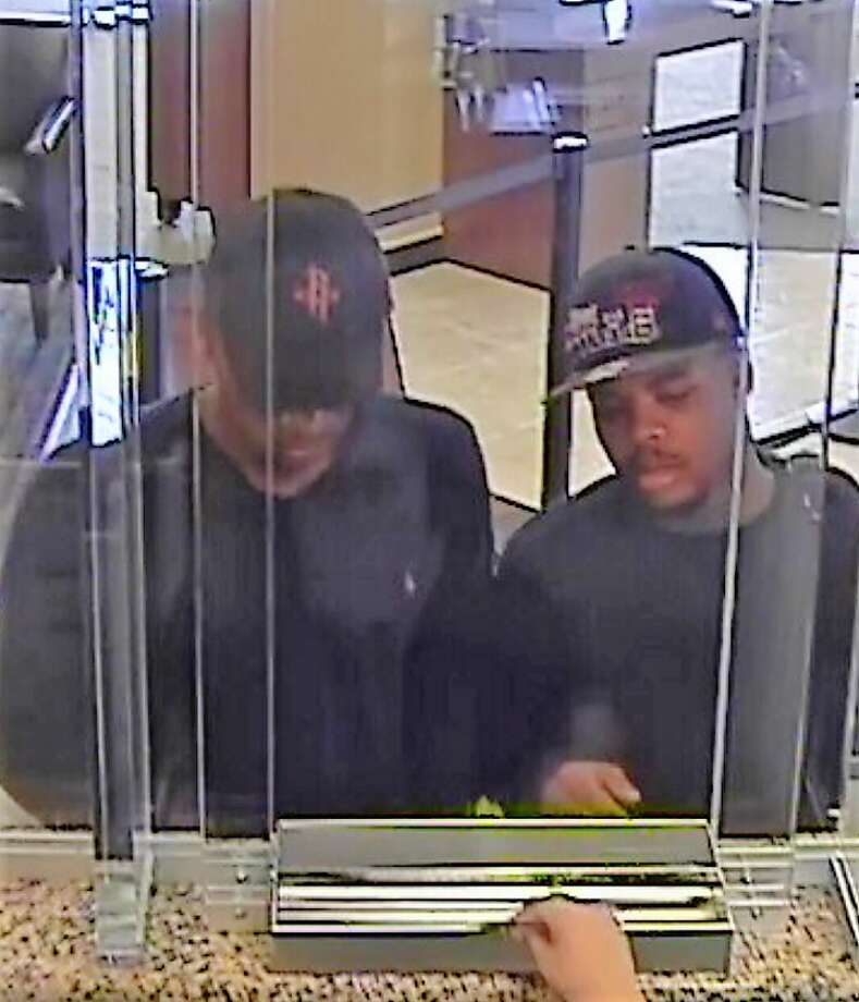 """Two men attempted to rob a Chase Bank in West Houston on Aug. 9, 2017 but left empty handed. The teller was behind """"bandit barrier glass"""" and stepped away from the window without giving the robbers any money. The FBI is still searching for the pair of robbers who were foiled in this heist.>> Ither criminals who didn't think through their crimes before they were arrested. Photo: FBI Houston Office"""