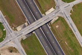Existing two-lane FM 1103 bridge in Schertz is expanding into a five-lane bridge with turnarounds.