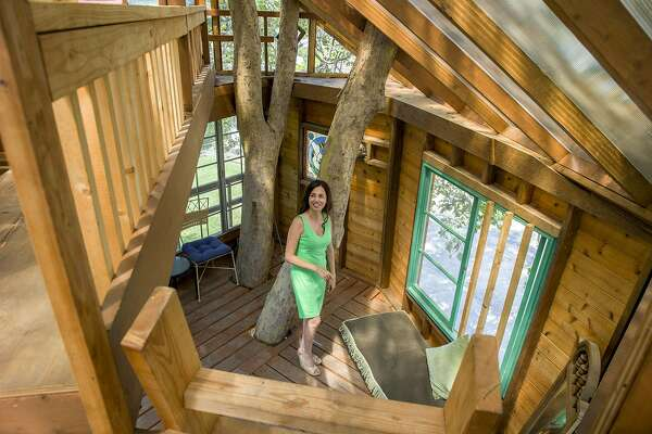 A treehouse of one's own - SFChronicle.com on tree house ladder design, tree house interior design, small house floor design, tree house roof design,