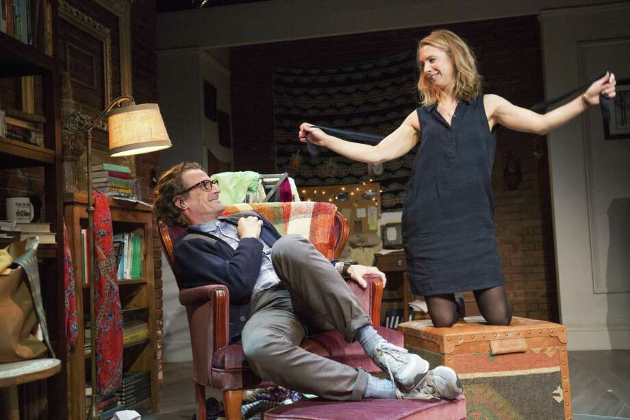 "Mark H. Dold and Julia Coffey in ""This"" at Barrington Stage Company. (BSC publicity photo by Scott Barrow.)"