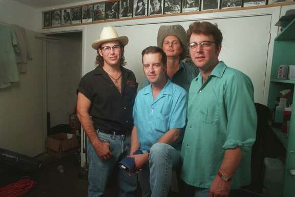 The Hollisters in 1996, with Eric Danheim pictured far right. Danheim died earlier this month after years of playing in Texas bands and building guitars used by Texas musicians.