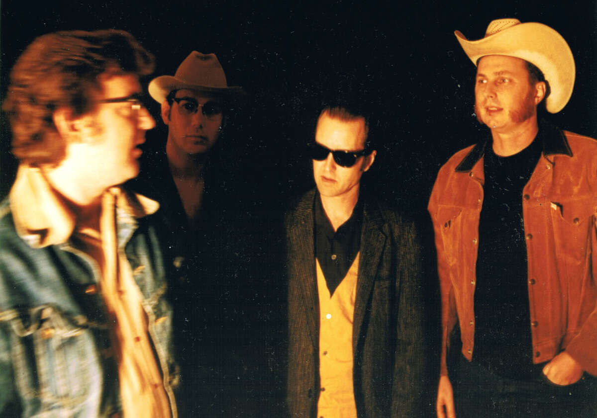 """The Hollisters. HOUCHRON CAPTION (06/10/2005) SECSTAR COLORFRONT: The Hollisters - left to right - Eric Danheim, Cletus Blakely, Kevin """"Snit"""" Fitzpatrick and Mike Barfield - will play the Continental Club tonight."""