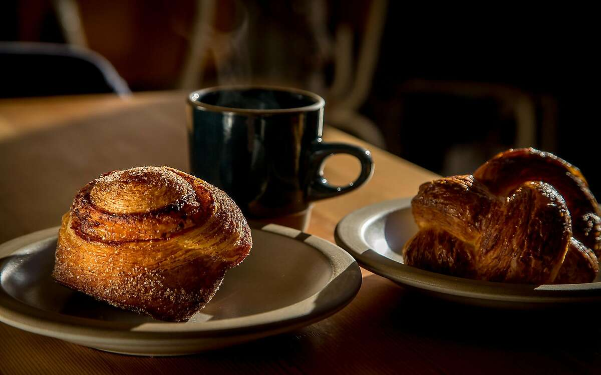 The Morning Bun and the Ham & Cheese Danish at Tartine Manufactory in San Francisco, Calif. are seen on January 5th, 2017.