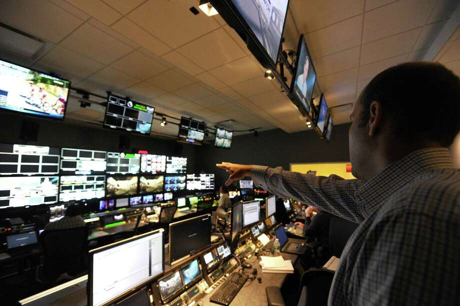 Pierre Moossa, coordinating producer of NBC Sports Group's English Premier League soccer coverage, describes the details of the control room inside the NBC Sports headquarters, at 1 Blachley Road, in Stamford, Conn. on Tuesday, July 18, 2017. Photo: Michael Cummo / Hearst Connecticut Media / Stamford Advocate