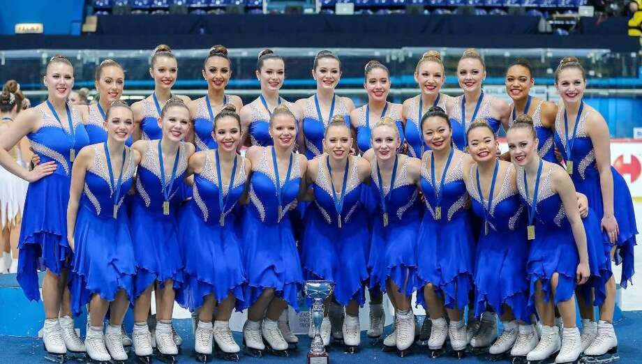 Fairfield natives Katie and Maggie Burns, along with their teammates, won first place for synchronized figure skating at the Zagreb Snowflakes tournament in Croatia in February. Photo: Contributed Photo / Fairfield Citizen