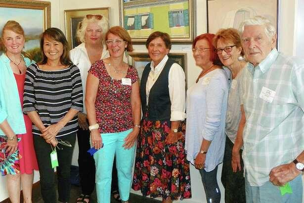 Winners of the Brushwork Exhibition include Kendall Klingbeil, Pound Ridge, Yuko Ike, Darien, Carolyn Lyngholm, Cos Cob, Heide Follin, Norwalk, Sandra Farley Aldrich, Westport, Susan Spivack, Westport, Wendy Moore, Pound Ridge, and Bela Szabo, Norwalk.