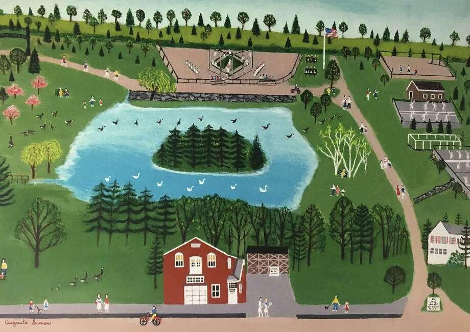 Agusta Simon's painting of Meed Park. Photo: Contributed Photo / Contributed Photo / New Canaan News