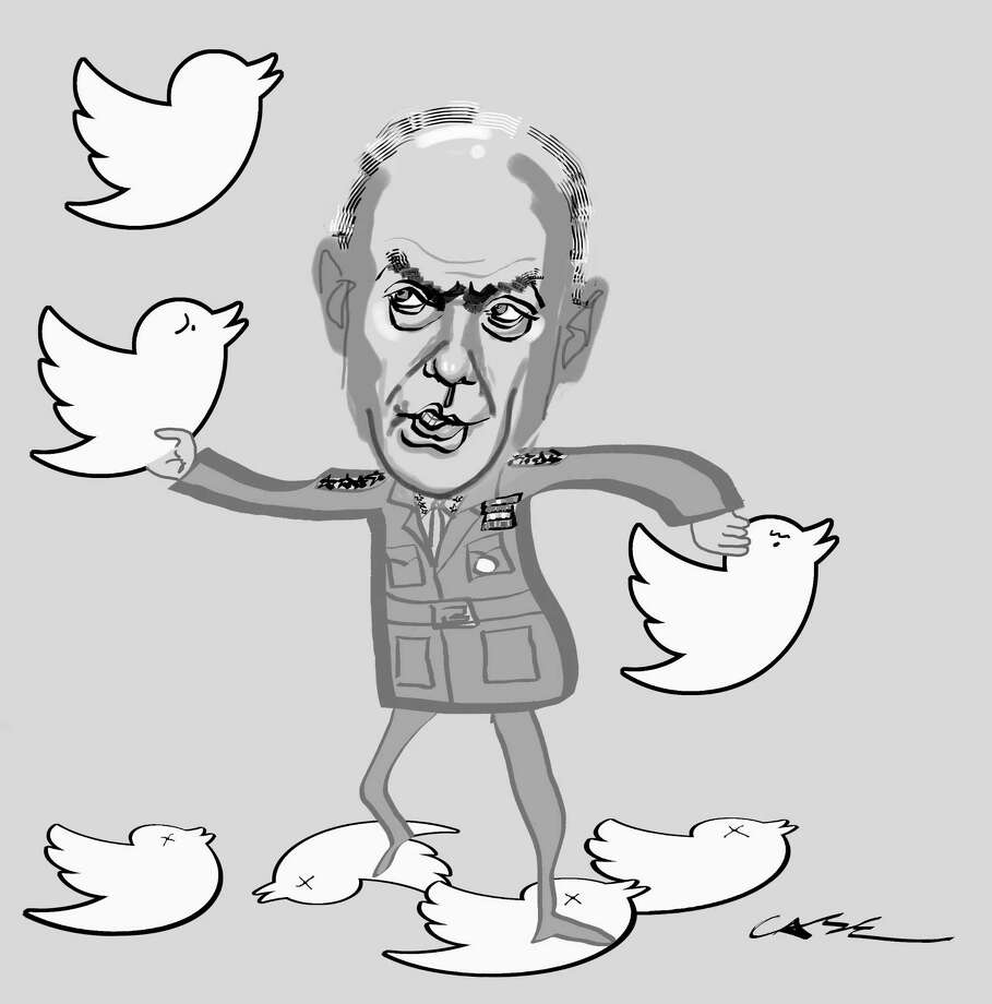 Gen. John Kelly versus the tweets. Photo: M.A. Case / Contributed / New Canaan News