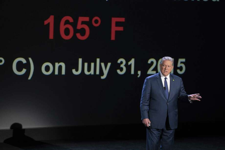 "Al Gore in a scene from ""An Inconvenient Sequel: Truth To Power."" Just as raw information, this is interesting stuff, and it's amplified by Gore's delivery, a unique mix of self-deprecating folksiness, geekiness and evangelical zeal. Photo: Jensen Walker / Paramount Pictures / Associated Press / © 2017 Paramount Pictures. All Rights Reserved."