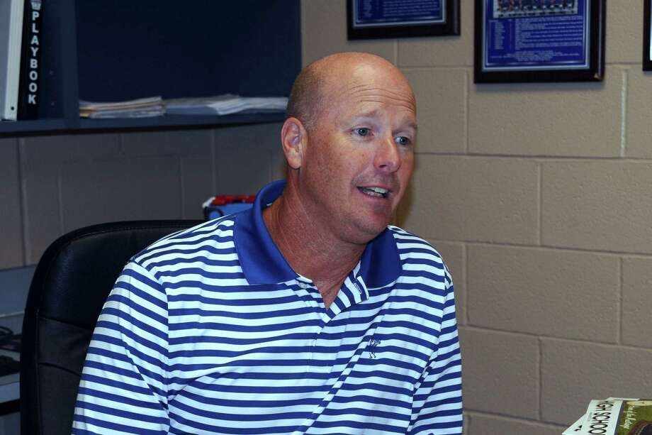 Friendswood athletic director and head football coach Robert Koopmann is elated to have a new lightning detection system on two campuses. / Kirk Sides