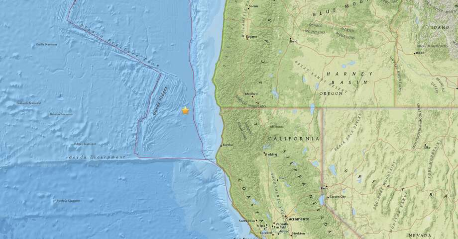 The quake hit at 10:59 AM local time at a depth of 10 kilometers. Photo: USGS