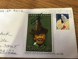 Stamps, one fake one real, honoring villains?