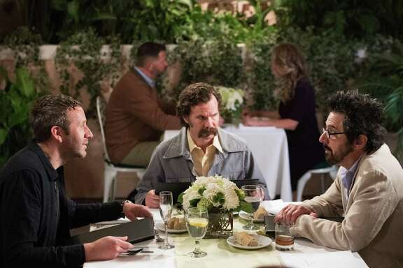 "Chris O'Dowd (left), Sean Bridgers and Ray Romano star in the new Epix production of ""Get Shorty."""