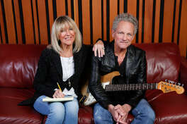 Christine McVie and Lindsey Buckingham  of Fleetwood Mac pose for a photo during recording session at the Village Recorder studios in Santa Monica on December 8, 2016 in Los Angeles, Calif. The two are on tour and will play Midland this fall.