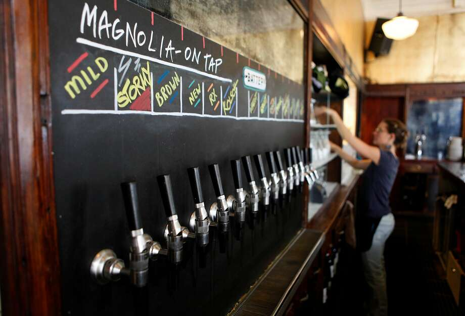 House made beers on tap at Magnolia. 96 Hours Bar Bites feature on the Magnolia Pub & Brewery in San Francisco, Calif. on Friday May 1, 2009, on the corner of Haight and Masonic Streets. Photo: Michael Macor, The Chronicle