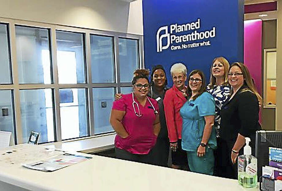 Lt. Gov. Nancy Wyman with the staff of Planned Parenthood in Enfield Photo: Christine Stuart / Ctnewsjunkie