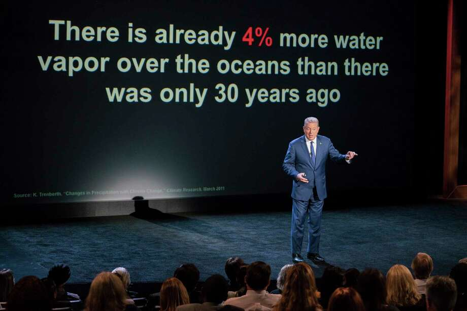 """This image released by Paramount Pictures shows Al Gore in """"An Inconvenient Sequel: Truth to Power."""" (Jensen Walker/Paramount Pictures via AP) Photo: Jensen Walker, HONS / ©2017 Paramount Pictures. All Rights Reserved."""