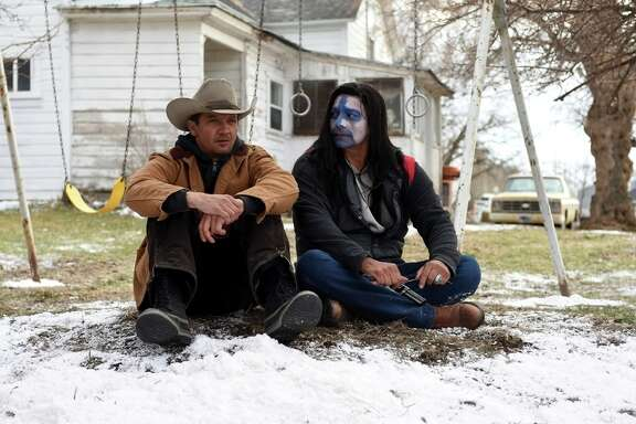 "This image released by The Weinstein Company shows Jeremy Renner, left, and Gil Birmingham in a scene from ""Wind River."" (Fred Hayes/The Weinstein Company via AP)"