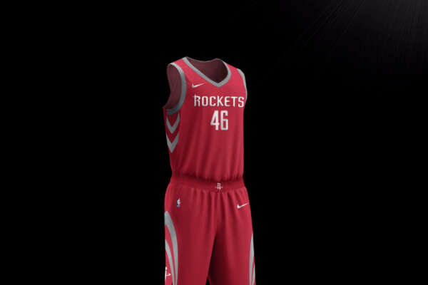Houston Rockets new red Nike jersey for the 2017-18 season.