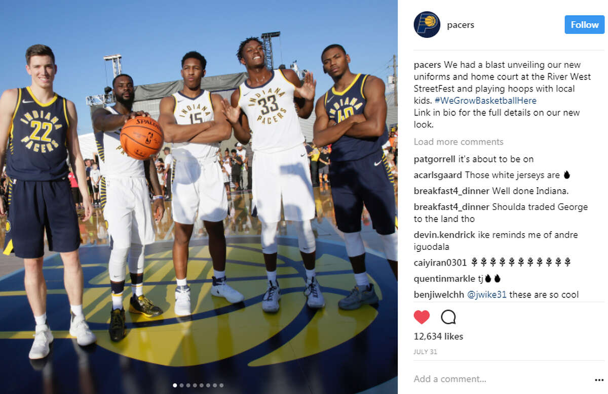 JERSEYS GOT WORSE Indiana Pacers This new look seems to be getting good reviews, but the lettering around the numbers doesn't work. It looks more like an ABA jersey. That isn't a compliment.