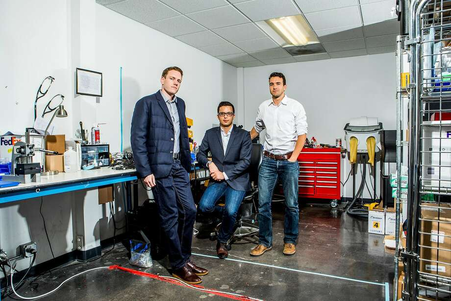 Eko Devices founders Tyler Crouch (left), Jason Bellet and Connor Landgraf. Eko has built the Duo, a digital stethoscope for home use that could change how heart patients are monitored. Photo: CHRISTIE HEMM KLOK, NYT