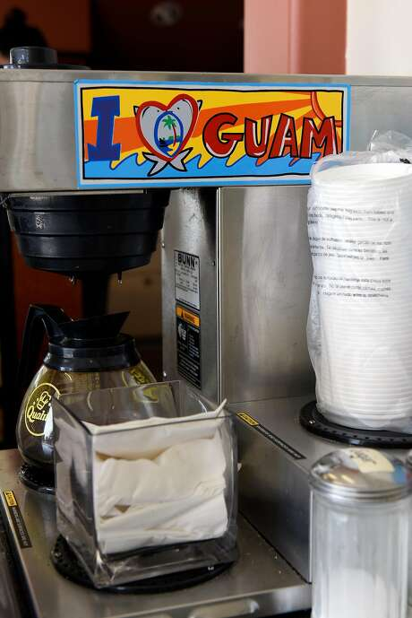 A sign is seen on a coffee maker at Elite Bakery in Union City, CA, on Thursday August 10, 2017. Photo: Michael Short, Special To The Chronicle