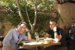 "Rob Brydon, left, and Steve Coogan in ""The Trip to Spain"""