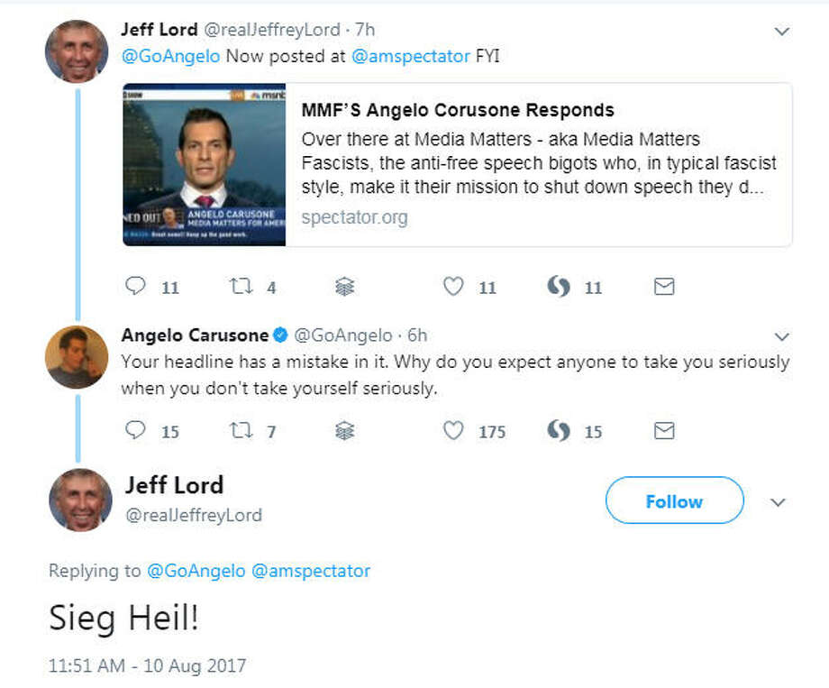 CNN has cut ties with commentator and Donald Trump supporter Jeffery Lord following this tweet, and the reaction on Twitter was swift. See the memes that followed Lord's controversial post. @realJeffreyLord on Twitter Photo: Twitter