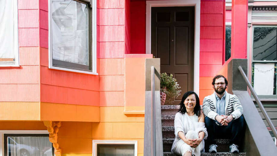 Behind the colorful facade of artist Windy Chien's San Francisco Victorian home are a number of design tricks and tips. Take a look at a few of the ways Chien has outfitted her unique space. Photo: Thomas J. Story / Sunset Magazine