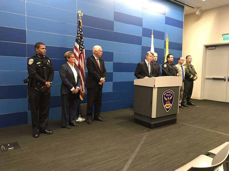 Prosecutors and law enforcement officials from around the Bay Area announced more than 75 arrests for a variety of drugs and guns charges on Thursday. Photo: SFPD / /