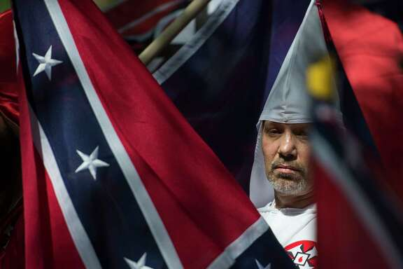 Last month, KKK members and other white nationalists rallied in Charlottesville, Va., calling for the protection of Confederate monuments. A similar rally is planned for Saturday.