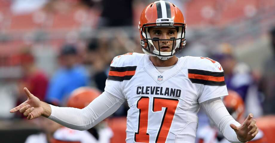 Cleveland Browns quarterback Brock Osweiler warms up before an NFL preseason football game against the New Orleans Saints, Thursday, Aug. 10, 2017, in Cleveland. (AP Photo/David Richard) Photo: David Richard/Associated Press