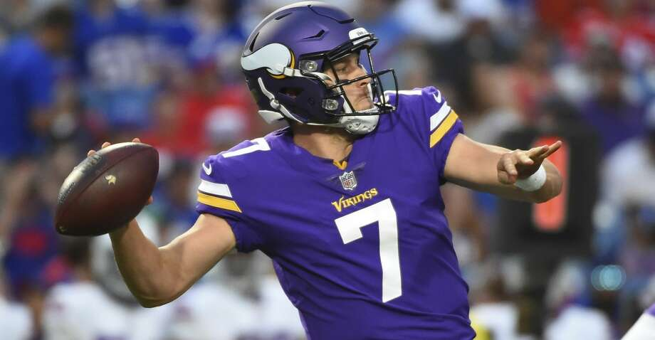 Minnesota Vikings quarterback Case Keenum (7) throws a pass during the first half of a preseason NFL football game against the Buffalo Bills Thursday, Aug. 10, 2017, in Orchard Park, N.Y. (AP Photo/Rich Barnes) Photo: Rich Barnes/Associated Press