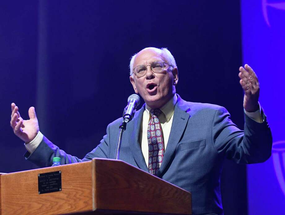 Congressman Paul Tonko  gives his remarks during the opening ceremony of the Maccabi Games at the Times Union Center on Sunday, Aug. 6, 2017, in Albany, N.Y. (Hans Pennink / Special to the Times Union)  ORG XMIT: HP123 Photo: Hans Pennink / Hans Pennink
